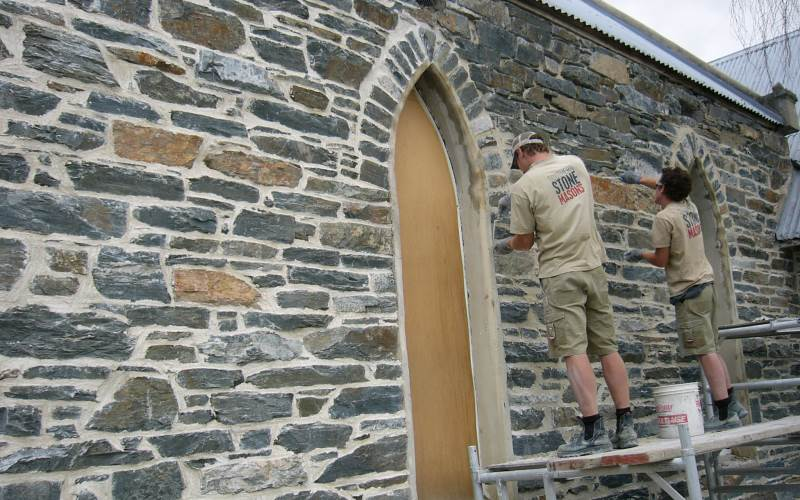 Restoring historic church for ribbon pointing