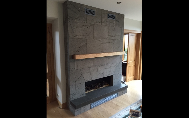 Fireplace with Mechanical Fixing